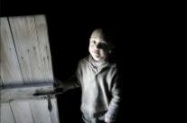 .open the door.